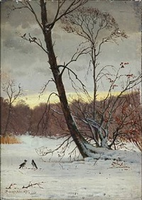 winter day in the woods by thorvald simeon niss