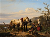 le repos du laboureur by wouter verschuur the elder