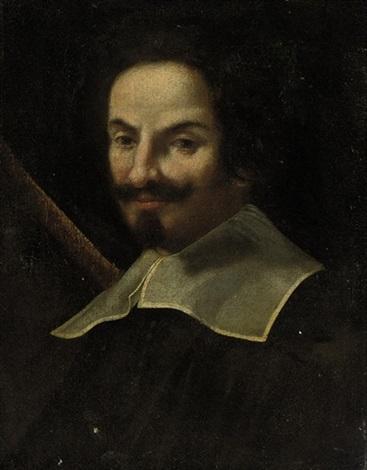 portrait of a gentleman in a black coat by gian lorenzo bernini