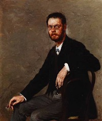 portrait of insurer aage bramsen (1855-1921) by gustaf-oskar björk
