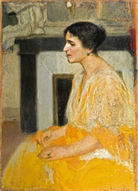 lady s. portrait by alfons karpinski