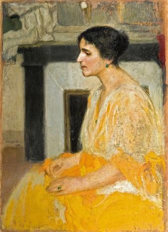 lady s portrait by alfons karpinski