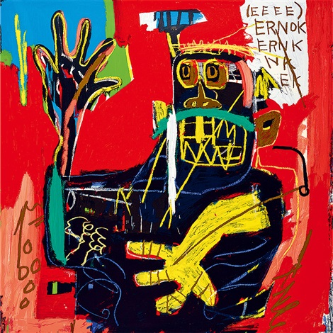 samo with ernok by jean michel basquiat