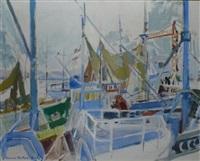 bateaux au port (sketch) by lucien victor félix delpy