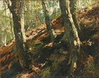 树林 by alfred théodore joseph bastien