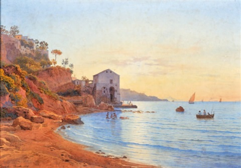 vue de sorrente by salomon corrodi