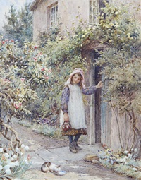 the cottage door by harold joseph swanwick