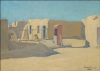 the red cistern, taos by walter ufer