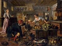 interno di cucina con figure by paolo fiammingo dei franceschi