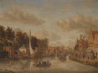 amsterdam, a view on the overtoom by jacobus storck