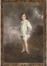 portrait of nathan meyer victor rothschild holding a hoop by joszi arpad koppay
