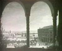 view from a terrace, algiers by françois lauret