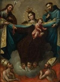 virgen con niño y santos by bernabe ayala