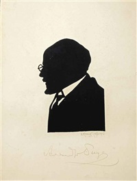 silhouette of alexandre benois (1870-1960) by elizaveta sergeevna kruglikova