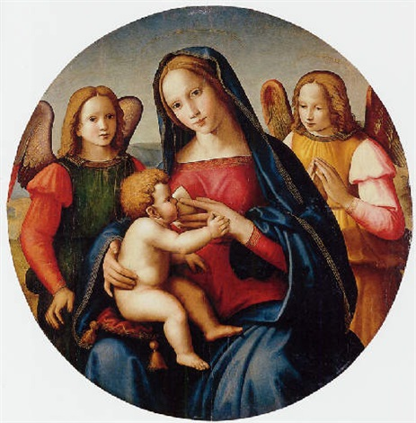 madonna and child with adoring angels by domenico ghirlandaio