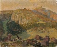 view to the wartburg by otto wilhelm merseburg