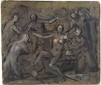 diana und callisto (preliminary study) by domenico tintoretto