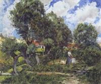 het ophangen van de was by léon louis dardenne