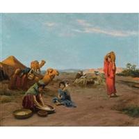 le campement au lever du soleil by jacques alsina