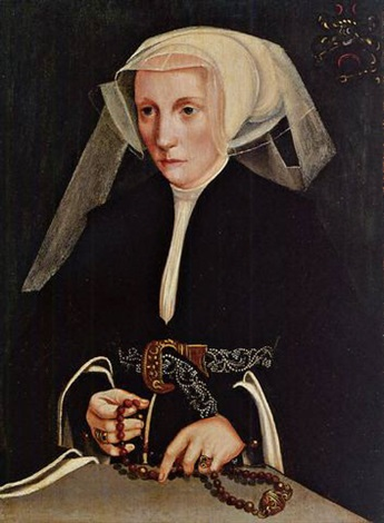 portrait of a lady holding a rosary by bartholomäus barthel bruyn the younger