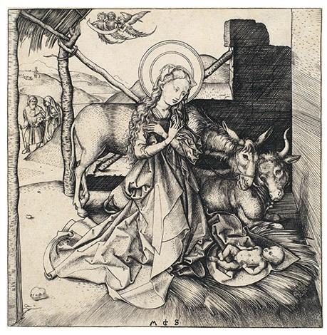 die geburt christi by martin schongauer