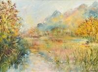 the black loch in autumn by tessa perceval