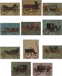 study of a glass coach (set of 11) by john leigh-pemberton