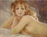 female nude by leo fontan