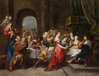 salomé présentant la tête de saint-jean baptiste au roi hérode by guillaume forchondt the elder