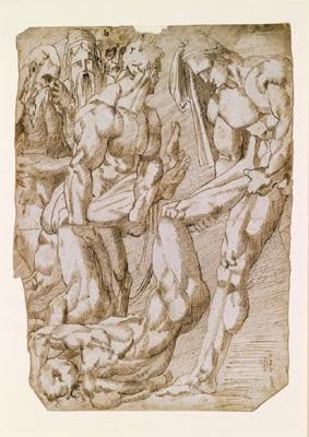männliche akt kopf eines jungen mannes verso 2 studies by andrea boscoli