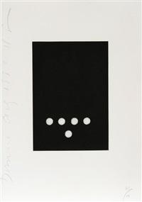dominoes portfolio - 16 by donald sultan