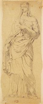 studie nach einer römischen skulptur by pierre andrieu