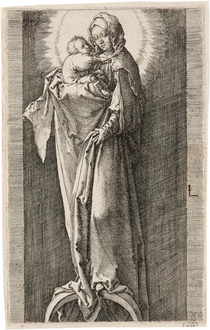 die madonna in der nische by lucas van leyden