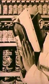 supermercado picasso; self-service picasso; olio picasso  su tela by gregorio spini