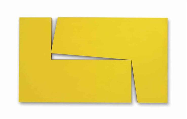 amarillo dos from the series estructuras by carmen herrera