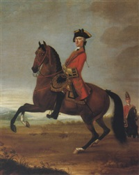 equestrian portrait of an officer of the 4th troop of horse by david morier