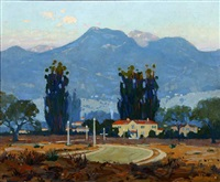 landscape - early morning - san gabriel mountains - pasadena, calif by ferdinand kaufmann