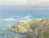 approaching fog-big sur by marlin linville