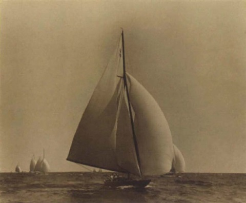 yacht race off marblehead by willard bramwell jackson