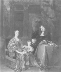 a family portrait in an interior by theodorus netscher