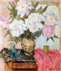 studio still-life (peonies) by maria modok
