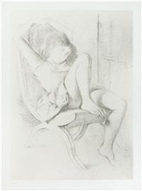 jeune fille assoupie by balthus