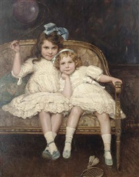 roselie and leslie lever-tilletson by maud hall (rutherford) neale
