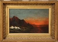 shipwreck at dusk by james hamilton