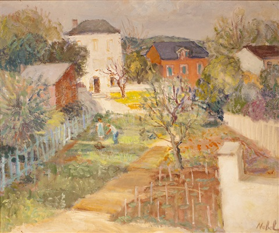 jardin à auvers sur oise maison du dr gachet by nebel