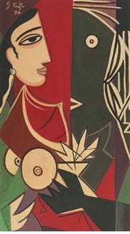 untitled (radha and krishna) by george keyt