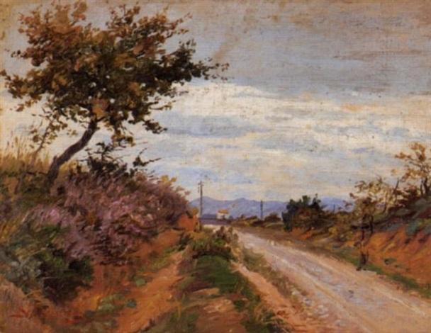 country side road by nicholaos ferekidis