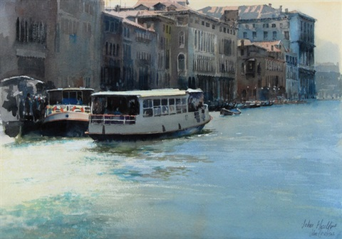 on the grand canal venice by john postle heseltine