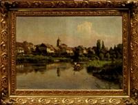 vue de rigny-sur-saône by emile isembart
