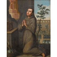 saint in prayer by spanish school (18)